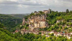 Rocamadour Provence, Frankrike arkivbild