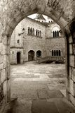 Rocamadour's abbey Stock Photo
