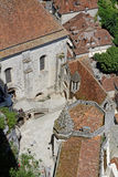 Rocamadour sanctuary from the top Royalty Free Stock Photography