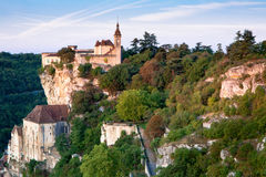 Rocamadour at sunrise Royalty Free Stock Photos