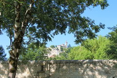 Rocamadour in the trees Royalty Free Stock Images