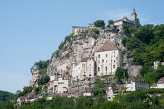 Rocamadour. View on the village of Rocamadour in France Royalty Free Stock Photography