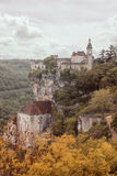 Rocamadour village on a cliff Royalty Free Stock Photo