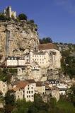 Rocamadour village wide landscape daylight view Stock Images