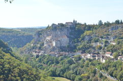 Rocamadour, world heritage village in france Stock Photos