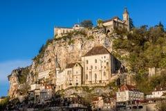 Rocamadourdorp, mooi Unesco-de erfenissi van de wereldcultuur stock afbeelding