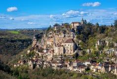 Rocamadourdorp, mooi Unesco-de erfenissi van de wereldcultuur royalty-vrije stock fotografie