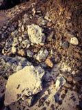 Rocas, arena y suelo en la tierra Imagen de archivo