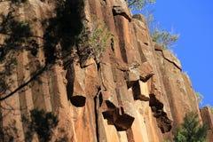 Rocas aserradas, parque nacional del Mt Kaputar imágenes de archivo libres de regalías