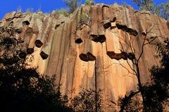 Rocas aserradas, parque nacional del Mt Kaputar imagen de archivo libre de regalías