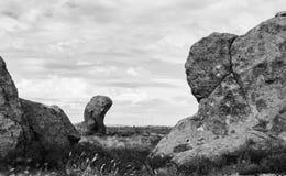 Rocas blancos y negros Imagen de archivo