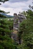 Rocas bohemias checas de Klokoci del paraíso Fotos de archivo libres de regalías