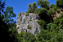 Rocas calizas. Limestone formations in the Sot del Bac (The Figuer�, Barcelona Royalty Free Stock Image