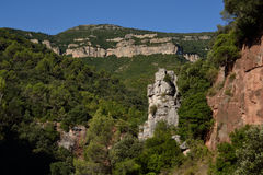 Rocas calizas. Limestone formations in the Sot del Bac (The Figuer�, Barcelona Stock Images