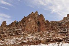 Rocas, CHIMGAN, UZBEKISTÁN Imagen de archivo libre de regalías