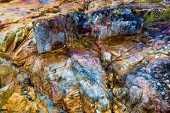 Rocas coloridas Fotos de archivo