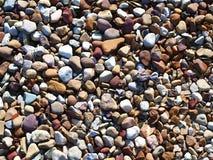 Rocas coloridas de la grava Foto de archivo