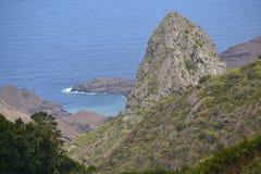 Rocas, costa este de St. Helena Imágenes de archivo libres de regalías
