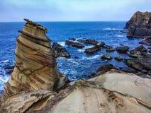 Rocas costeras en Nanya Taiwán Fotos de archivo