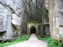 Rocas de Adrsbach Fotos de archivo libres de regalías
