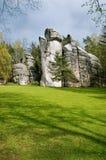 Rocas de Adrspach Foto de archivo libre de regalías