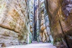 Rocas de Adrspach Foto de archivo