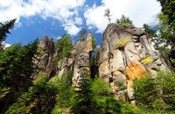 Rocas de Adrspach-Teplice Fotos de archivo libres de regalías
