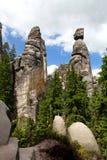 Rocas de Adrspach-Teplice Foto de archivo