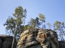 Rocas de Adrspach-Teplice República Checa Imagenes de archivo