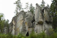 Rocas de Adrspach Teplice - República Checa Foto de archivo libre de regalías