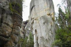 Rocas de Adrspach Teplice - República Checa Foto de archivo