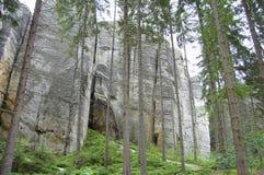 Rocas de Adrspach Teplice - República Checa Imagenes de archivo