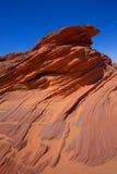 Rocas de Arizona en la página cerca del barranco del antílope Imagen de archivo libre de regalías
