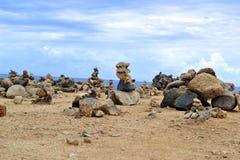 Rocas de Aruba Imágenes de archivo libres de regalías