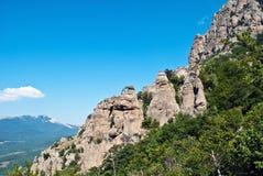 Rocas de Dimerdzhi imagen de archivo