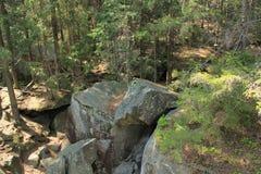 Rocas de Dovbush Imágenes de archivo libres de regalías