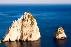 Rocas de Faros Imágenes de archivo libres de regalías