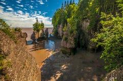 Rocas de Hopewell Fotos de archivo