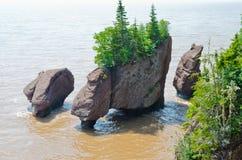 Rocas de Hopewell Fotos de archivo libres de regalías