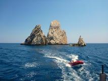 Rocas de Islas Medes 2 imagen de archivo