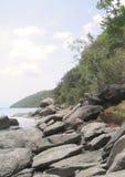Rocas de la bahía de Magen Imagen de archivo libre de regalías