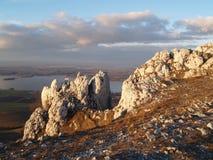 Rocas de la cal Imagen de archivo