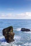 Rocas de la crepe en Punakaiki Imagenes de archivo