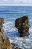 Rocas de la crepe en Punakaiki Foto de archivo