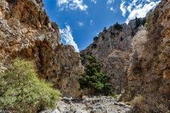 Rocas de la garganta de Imbros crete Grecia imagen de archivo libre de regalías