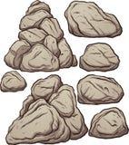 Rocas de la historieta Foto de archivo