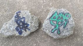 Rocas de la meditación Imágenes de archivo libres de regalías