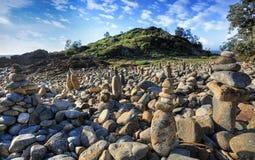 Rocas de la mimosa Fotos de archivo libres de regalías