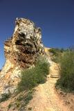 Rocas de la montaña del Fox con el cielo azul Fotografía de archivo