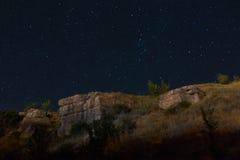 Rocas de la noche Fotos de archivo libres de regalías